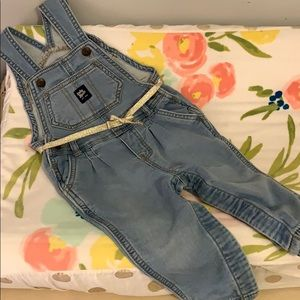 Overalls with gold belt